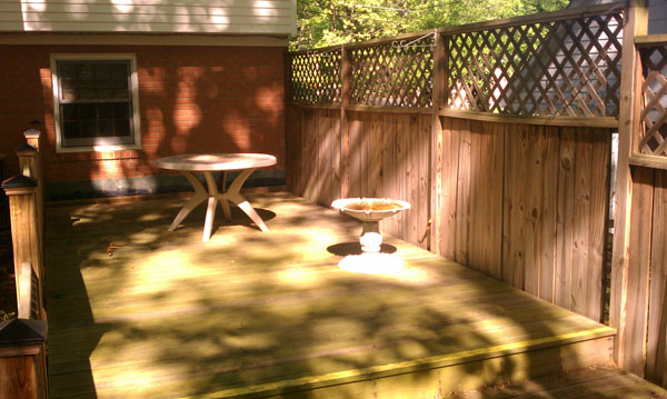 Large Deck Before Stain