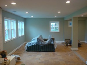 Basement With Windows After Painting