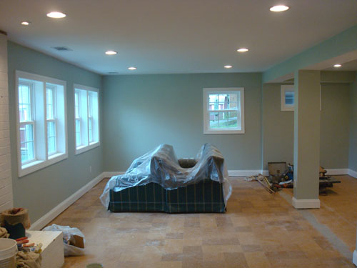 Basement After Painting