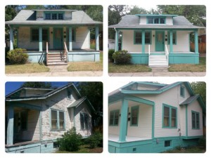 Before & After Of A House Exterior Painted