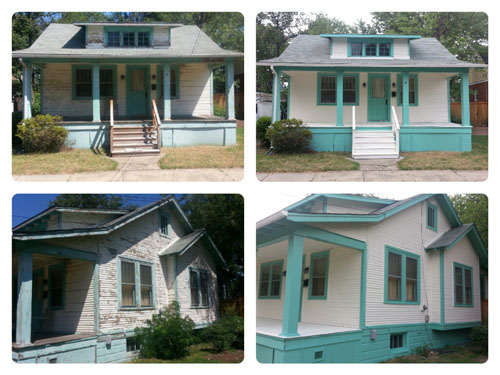 Photos painters in northern va home improvements pressure washing for Exterior house paint before and after