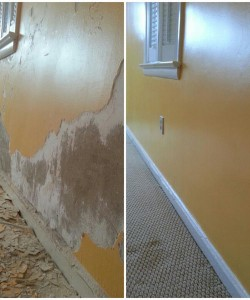 Before & After Of Interior Repair & Plaster Work