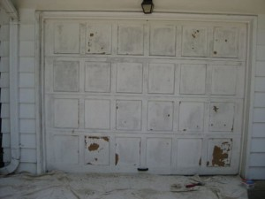 Garage Door Before Painting