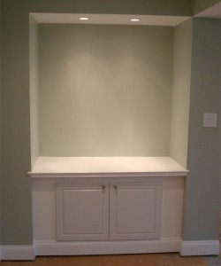 In Wall Shelf & Cabinet Painted