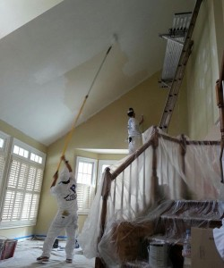 Painting The Ceiling Of  A Large Room