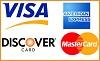 Visa, Mastercard, AMX, Discover