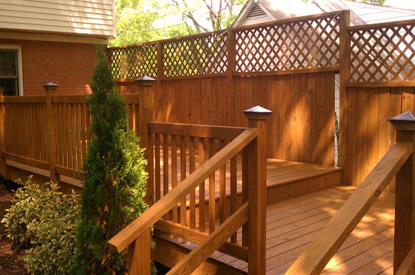 Large Deck Pressure Washed and Stained