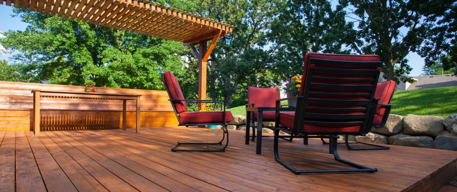 Stained Backyard Deck